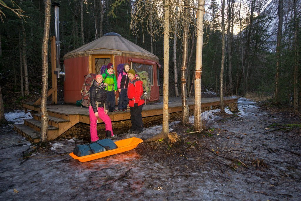 Yukla Yurt Winter Camping